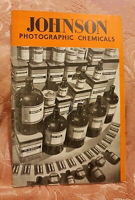 Johnson Photographic Chemicals Price List - April 1952