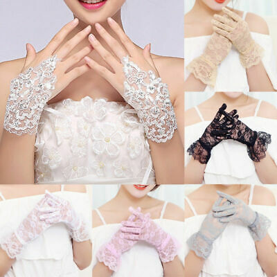Mittens Glove Anti UV Driving Silk Sun Gloves Ice Protection Wedding Touch Women
