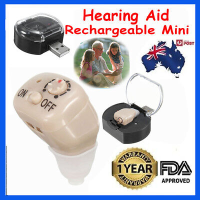 Rechargeable Mini Adjustable Tone In Ear Digital Hearing Aids Sound Amplifier Nヤ