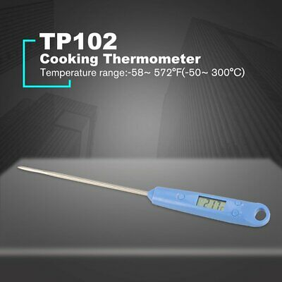Digital Cooking Thermometer Long Probe Kitchen Temperature Tester Waterproof OE