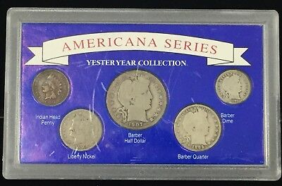 1895 -1908 Americana Series Yesteryear Collection 5 Coin Set 1907 Barber #SS372