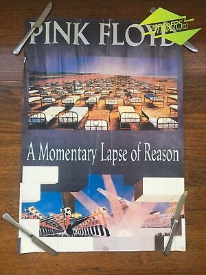 """Vintage 1987 Pink Floyd 'momentary Lapse Of Reason"""" Album Promotional Poster"""