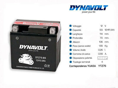 HONDA CBR 600 RR 2005 GENUINE DYNAVOLT SEALED ACTIVATED BATTERY MGS10ZS