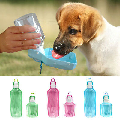 250/500ml Dog Drinking Outdoor Travel Water Bottle Pet Puppy Portable Feed Bowl