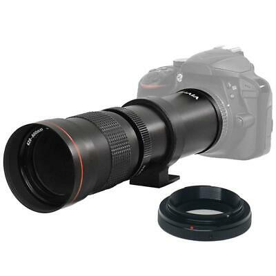 Vivitar 420-800mm f/8.3 Telephoto Zoom Lens with T-Mount for Nikon DSLR Cameras