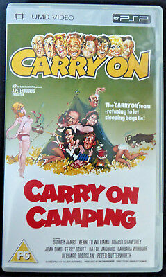 Carry On Camping (PSP-UMD Video)-Rare, v good condition, PG cert,1969, Sid James