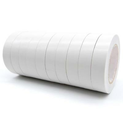 """1 Pack of 10 Rolls 9//16/"""" x 30/' White PVC Vinyl Electrical Tape Free Ship"""