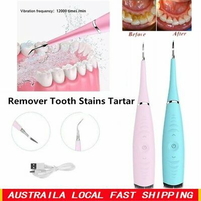 Electric Sonic Dental Tartar Calculus Remover Tooth Stains Clean To ☀A