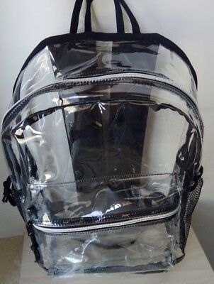 Clear, Transparent PVC Backpack perfect for Security Purposes at Sport or School
