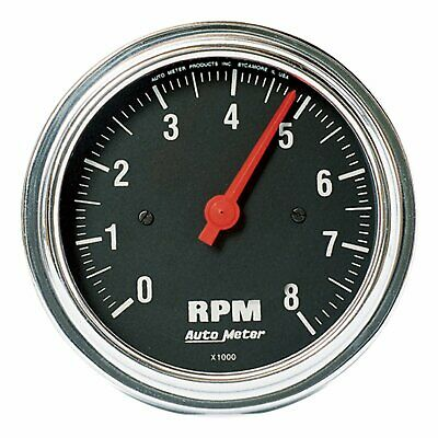 Auto Meter 2499 Traditional Chrome 3-3/8-Inch 8000 RPM In-Dash Tachometer