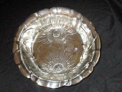 "Wallace Poppy 123 Sterling Silver Round Vegetable Bowl 10"" VGC"