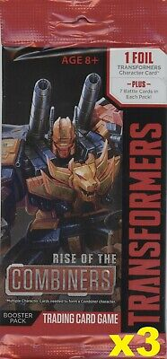 Transformers TCG ** RISE OF THE COMBINERS 3x Factory Sealed Booster Pack LOT **