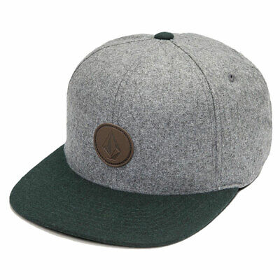 5f3138e5b5c3e8 Volcom Men's Quarter Fabric Snapback Hat Dark Pine Gray Baseball Cap  Headwear