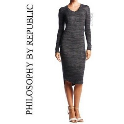 7366c34ba2  78 NEW Women s Philosophy Blend Sweater Dress Size S Long Sleeve Fitted  Career