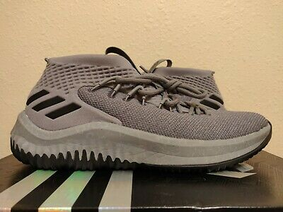 size 40 018d9 ddd59 Adidas Dame 4 Basketball Yellow Tape Grey Blue Black Lillard (CQ0474) size  10.5