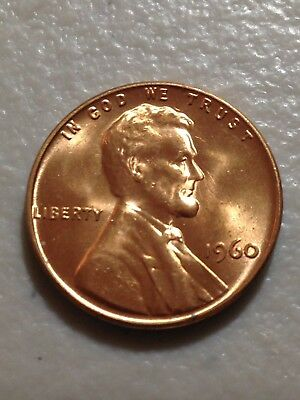 1960 1C RD Lincoln Cent BU Buy One Or Multiple Cents #070318