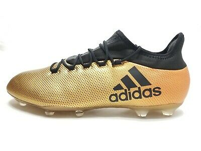 f16ec8c27 Adidas X 17.2 FG Metallic Gold Black Mens Techfit NSG Soccer Cleats Sz 13  CP9186