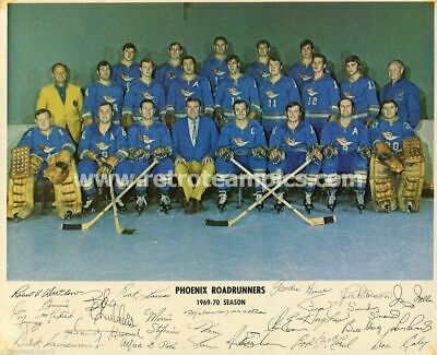 1969-70 WHL Phoenix Roadrunners Reprint Hockey Team Photo