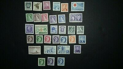 Canada Mint NH lot 1952 / 1954 MNH 32 Stamps