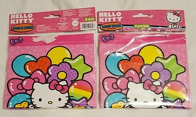 8 Hello Kitty Rainbow Birthday Party Loot Gift Treat Plastic favor Bags 146a7190acf45