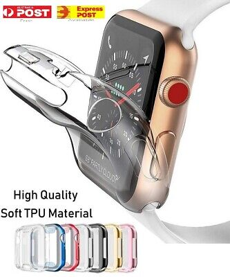 Full Cover TPU Case iWatch Screen Protector For Apple Watch Series 4 3/ 2 / 1