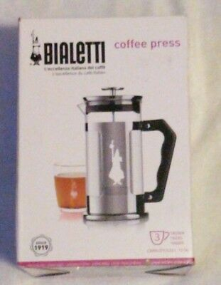 Bialetti 6860 Preziosa Stainless Steel 3-Cup French Press Coffee Maker, Silver
