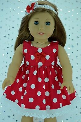 """Doll Clothes For 18"""" American Girl~Our Generation~Journey DRESS~HEADBAND"""