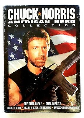 Chuck Norris - American Hero Collection (5-DVD) Delta Force  Missing in Action