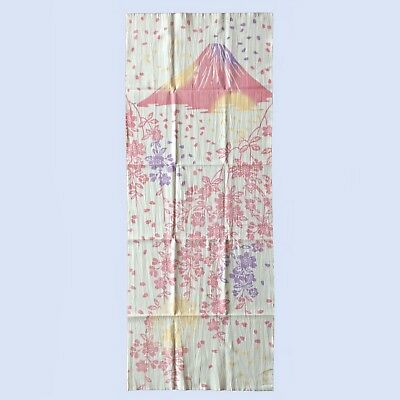 Japanese Traditional Towel TENUGUI Mt.Fuji and weeping cherry tree from Japan