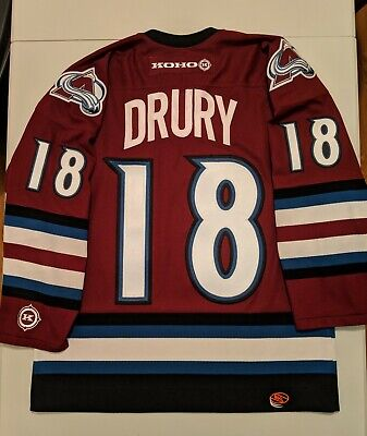 KOHO CHRIS DRURY Colorado Avalanche Alternate 3rd Purple Jersey M NHL Roy  Sakic b3ddf3ce6