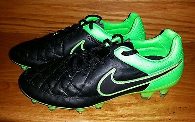631fb92a1 Nike Tiempo Legacy FG Leather Soccer Cleats Men s US 6.5 Black Green NEW   100