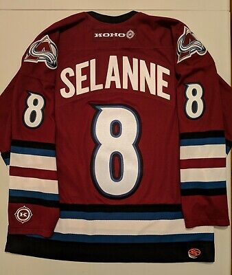 KOHO TEEMU SELANE Colorado Avalanche Alternate 3rd Purple Jersey L NHL Roy  Sakic 8dad89b68