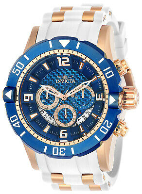 Invicta 23709 Men's Pro Diver Blue Dial Chronograph Steel & Polyurethane S Watch