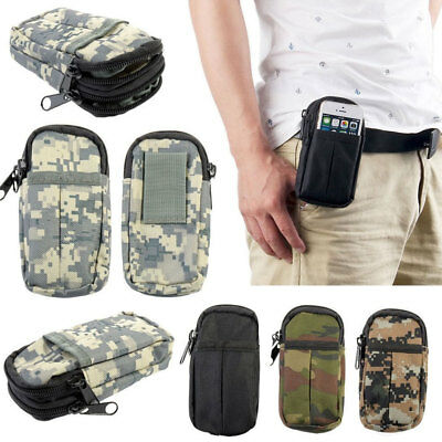 dc703496ebefb7 ALS_ Camo Tactical Molle Pouch Belt Waist Pack Bag Military Fanny Phone  Pocket F