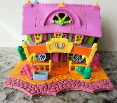 Vintage 1994  Bluebird Polly Pocket POPUP WESTERN  RANCH HOUSE playset (UPDATED)