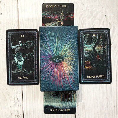 78pcs/ Deck Tarot Cards  Prisma Visions Tarot Board Game Future Telling Cards