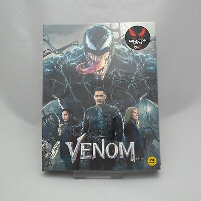 Venom (2019, Blu-ray 2D & 3D Combo) Full Slip Case Steelbook Edition
