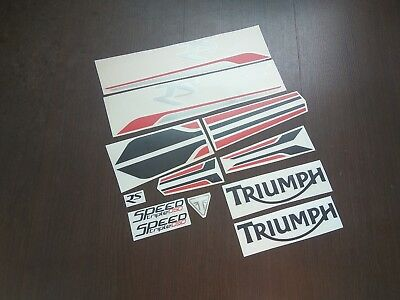 Triumph Speed Triple 1050 RS 2018 full decals stickers graphics logo set kit