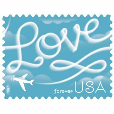 USPS Love Skywriting - 10 Sheets of 20 First-Class Forever Stamps
