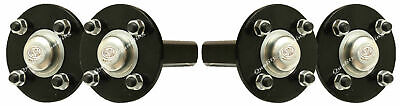 "Hub & stub axles, quad, ATV trailer 4 stud 4"" PCD 35x35mm high speed - set of 2."
