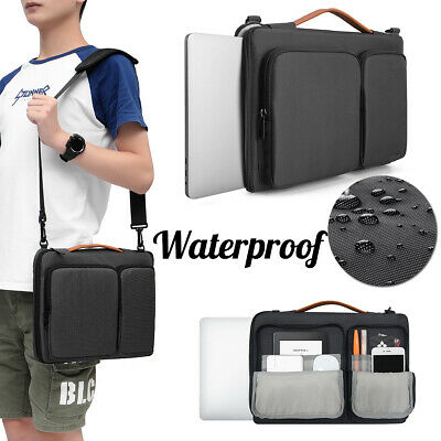 "15x10.6x2.8"" Waterproof Laptop Shoulder Bag for MacBook/Microsoft/Dell/Lenovo"