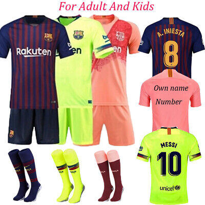 2019 Football Outfit Strips Soccer Suits Training Jerseys Kits For Kids Adults
