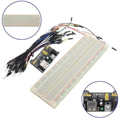 MB-102 830 Point Solderless Breadboard PCB+Power Supply+65pcs Jump Cable Wire BT