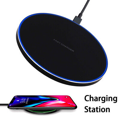 Qi Fast Wireless Charger Dock For iPhone X/8 plus/XR/XS Samsung S8/S9 plus/Note9
