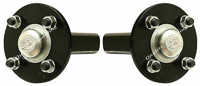 "Hub & stub axles quad ATV trailer - 4 stud 4"" inch PCD 40x40mm shaft - set of 2."