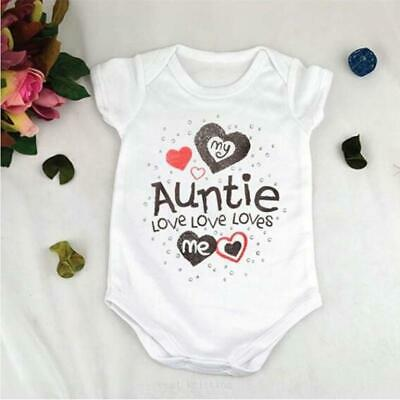 My Auntie Loves Me Embroidered Baby Bandana Dribble Bib Gift Personalised Aunt