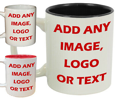 PERSONALISED MUG Custom Photo Tea/Coffee Cup Gift Box Logo Image Text BULK