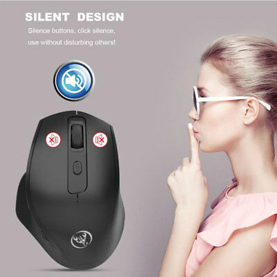 2.4G Rechargeable Wireless Silent Vertical Mouse 6 Buttons 2400 DPI Mice For PC