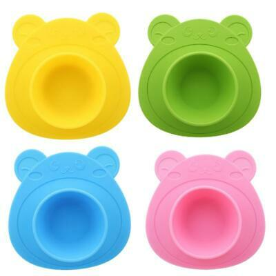 Cute Silicone Happy Mat Baby Kids Suction Table Food Tray Placemat Plate Bowl FI