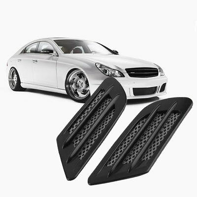 Car Side Air Flow Vent Hole Cover Fender Intake Grille Decoration Sticker OP